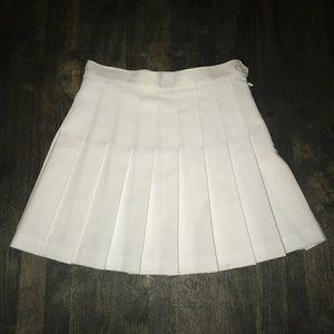 American apparel white tennis skirt xsmall
